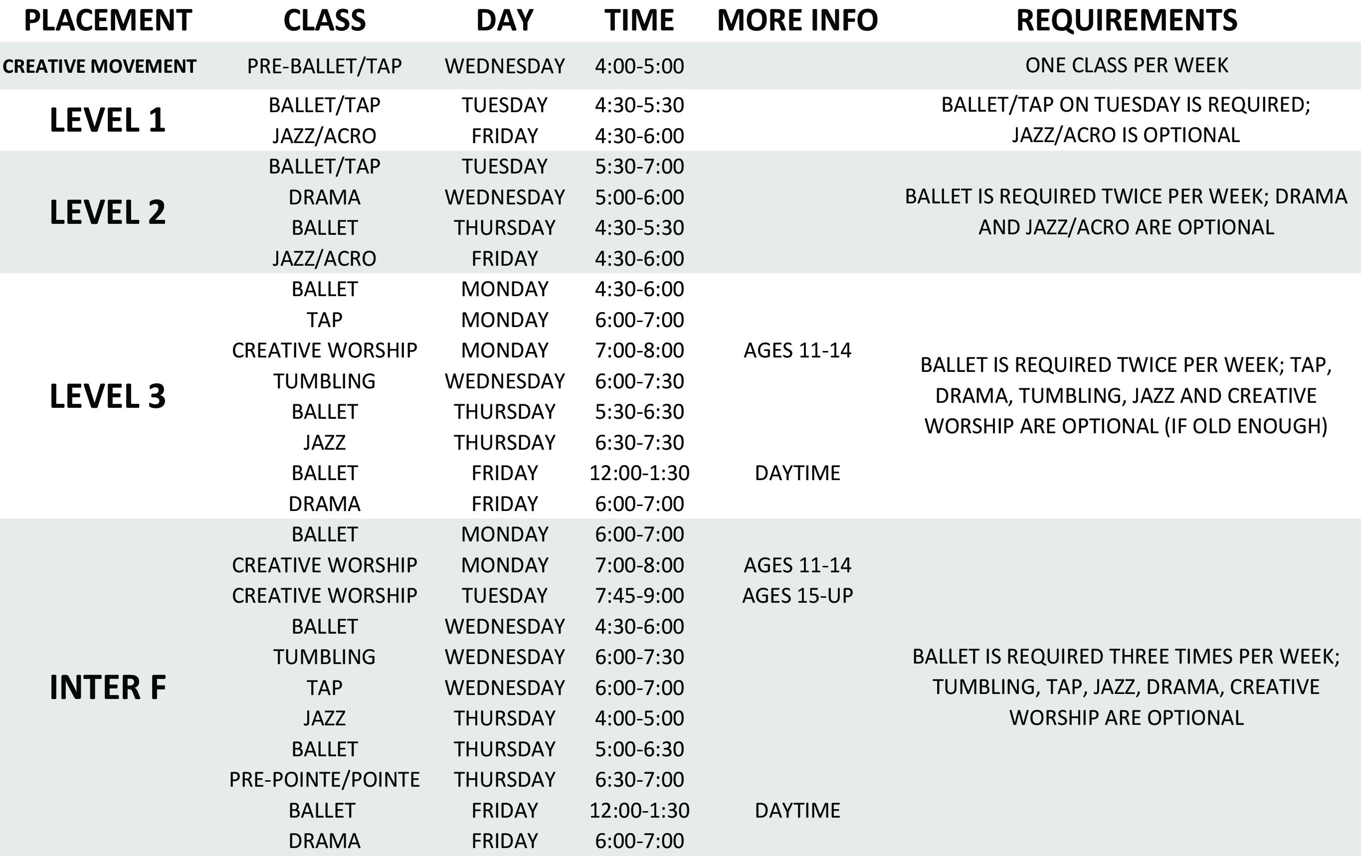 Class Schedule-1