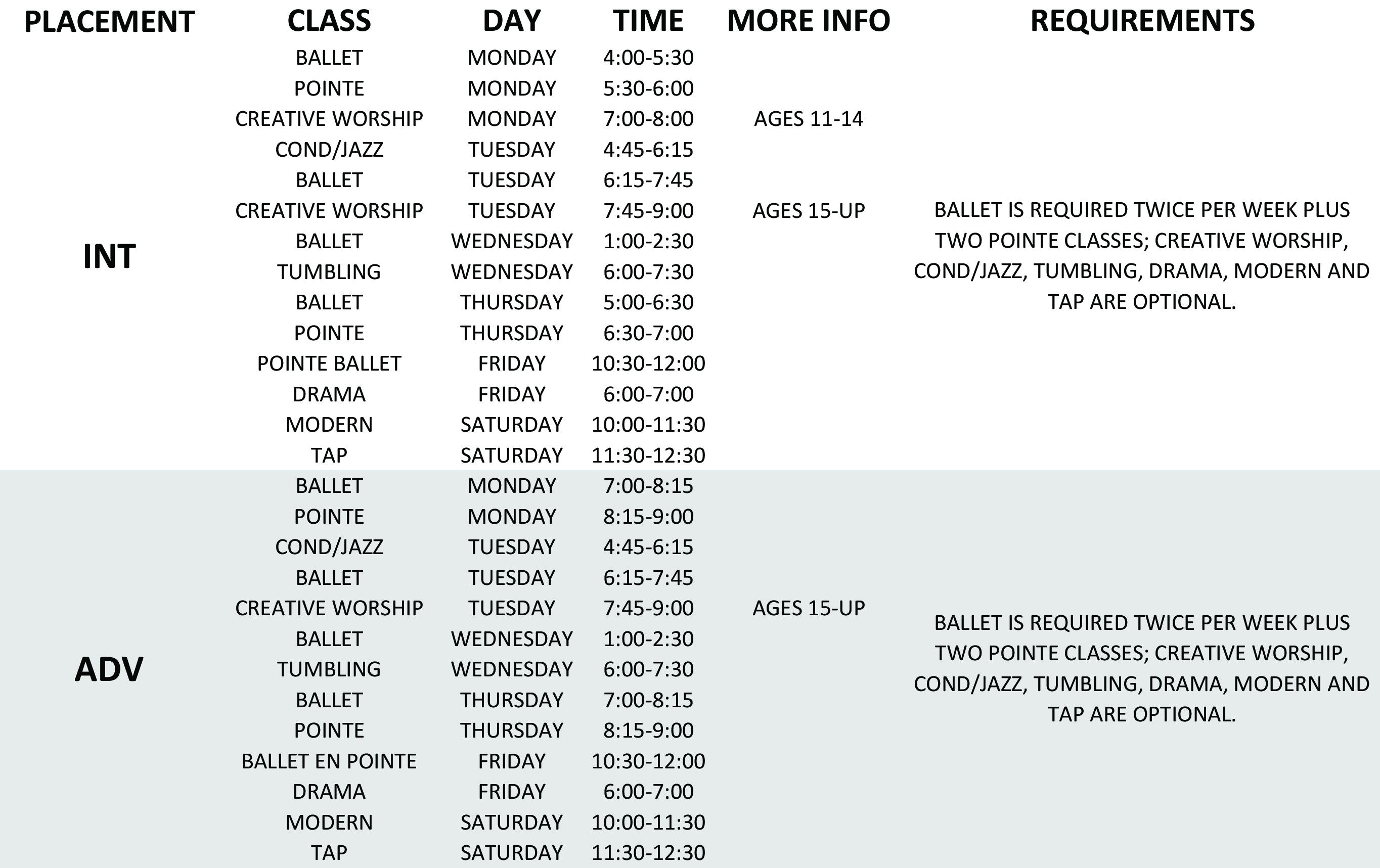 Class Schedule-2